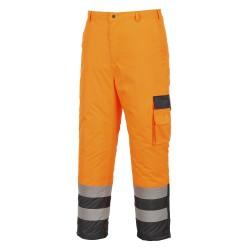 Dwukolorowe spodnie ostrzegawcze-ocieplane