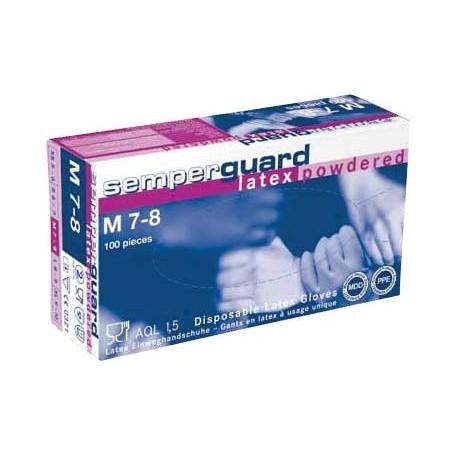 Handschoenen SEMPERGUARD® LATEX PUDR
