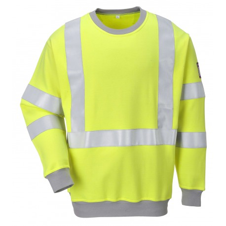 Vlamvertragend Antistatisch Hi-Vis Sweatshirt