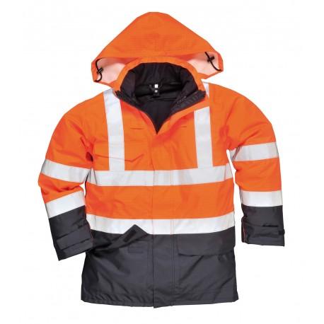BizFlame Rain wielofunkcyjna, wodoodporna kurtka ostrzegawcza.