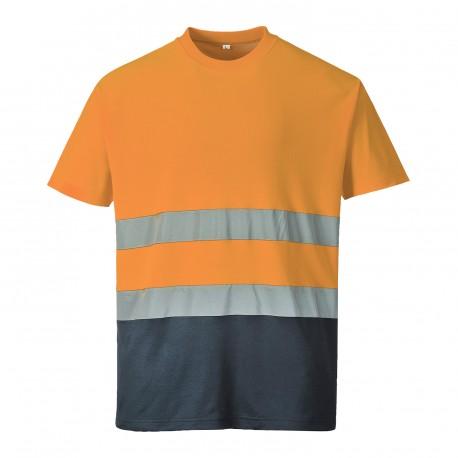 Tweekleuren Katoenen Comfort T-shirt