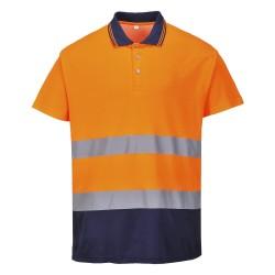 Tweekleuren Katoenen Comfort Polo