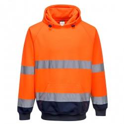 Tweekleurig sweatshirt met capuchon
