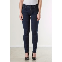 PANTS STRAIGHT STRETCH DENIM DEEP BLUE